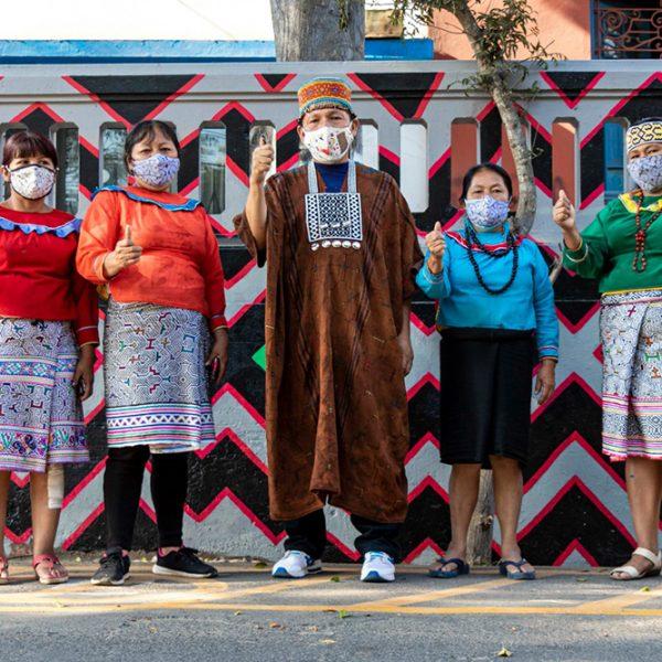 Inauguración del Mural Realizado por el Colectivo Shipibas Muralistas